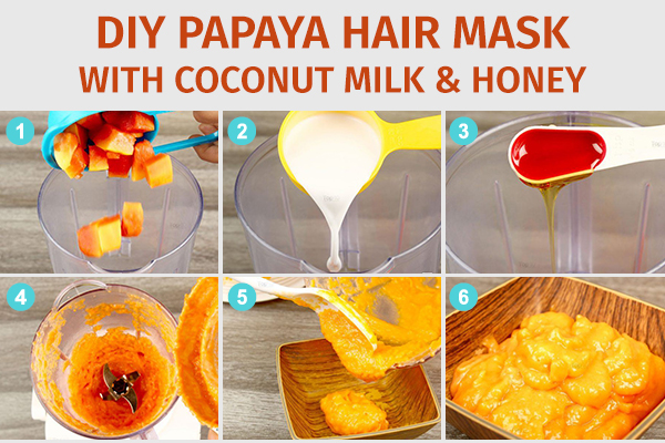 diy papaya hair mask with coconut milk and honey
