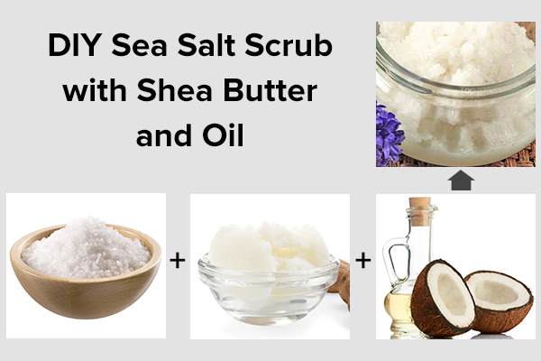 diy sea salt scrub with shea butter and oil