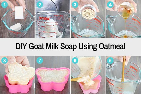 diy goat milk soap recipe using oatmeal