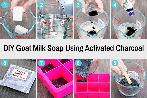 diy goat milk soap recipe using activated charcoal