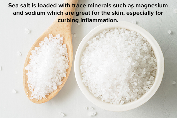 sea salt is beneficial for skin health