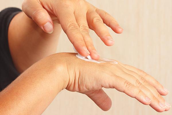 maintain hand hygiene to minimize skin peeling