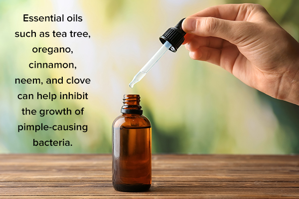 certain essential oils can help remove pimples