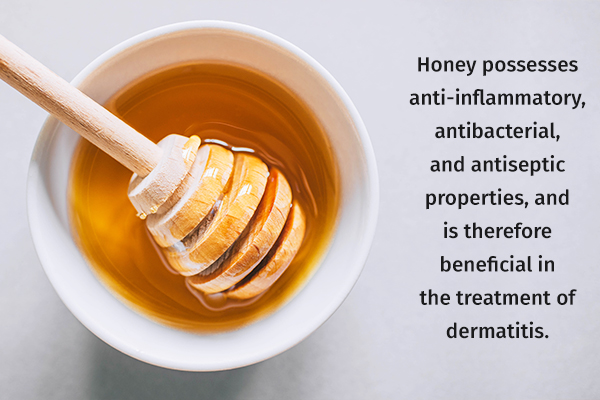 honey can be beneficial in the treatment of dermatitis