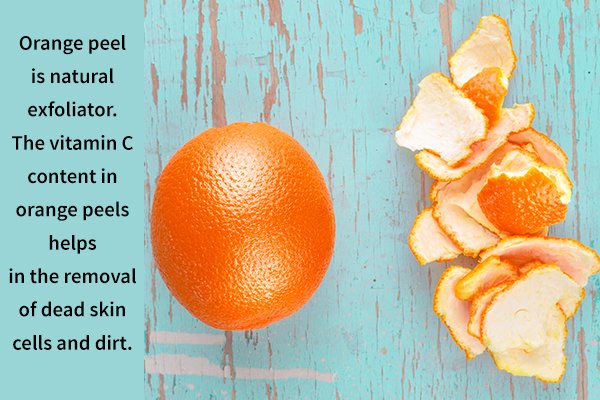 orange peel can serve as a natural skin exfoliator