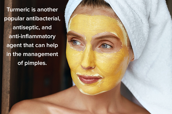 turmeric can help in pimple management