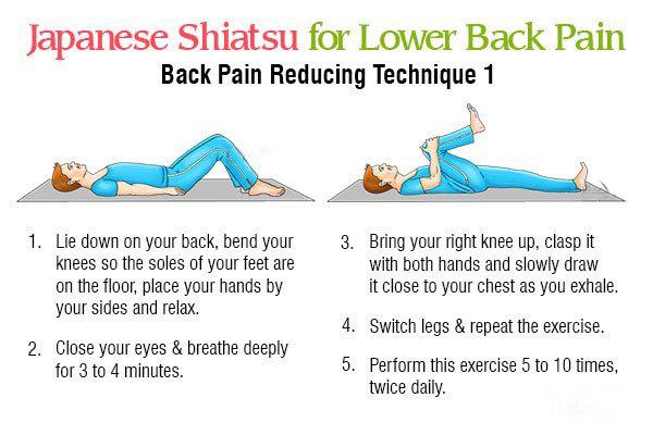 shiatsu massage technique 1 for reducing back pain
