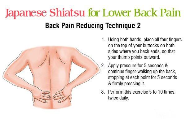 shiatsu massage technique 2 for reducing back pain