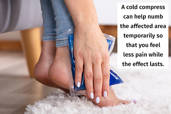 cold compress can help numb the affected area