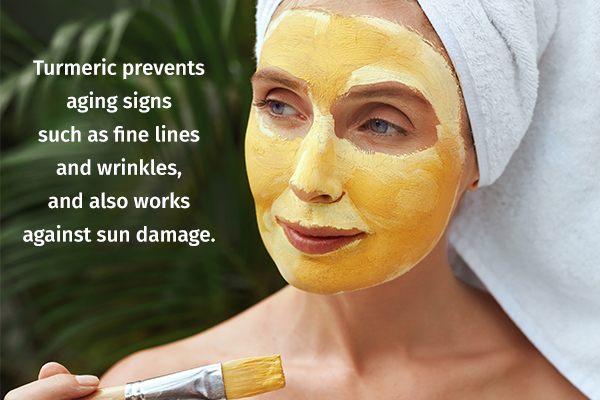 turmeric can help prevent skin aging
