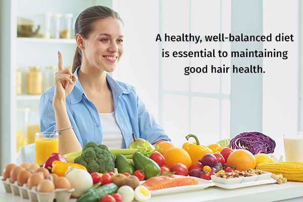 follow an healthy diet for optimal hair health