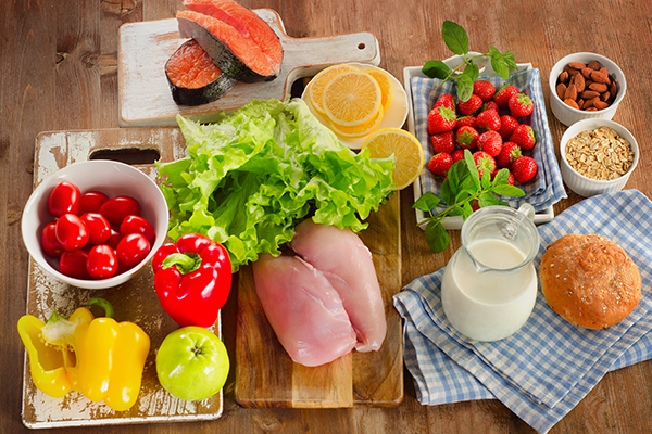 consume a well-balanced diet for optimal skin health
