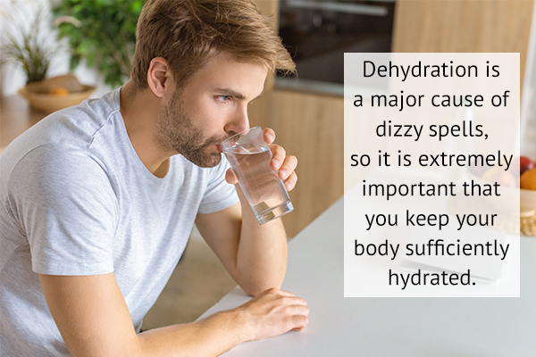 stay hydrated to avoid dizziness