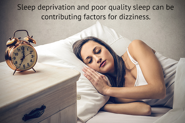 sleep deprivation can contribute to dizziness