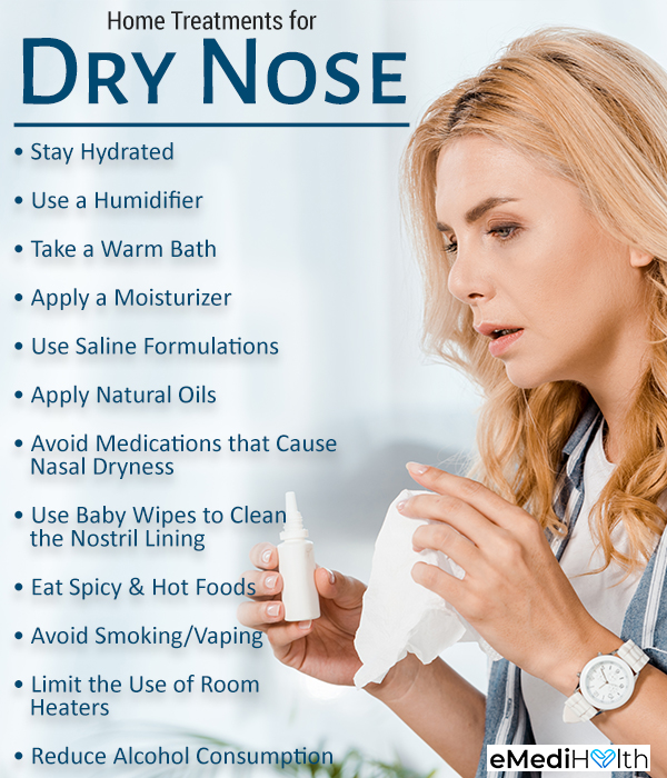 at-home remedies for dry nose