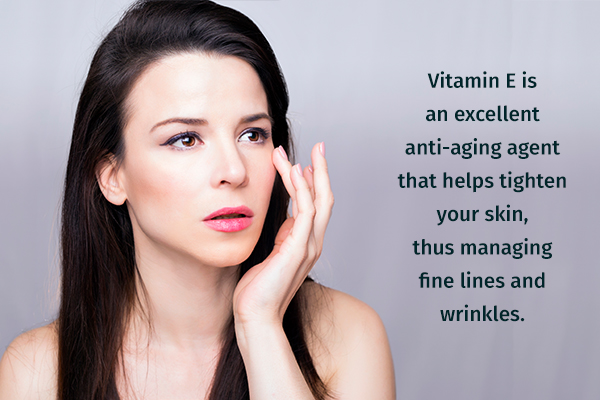 vitamin E can help manage wrinkles