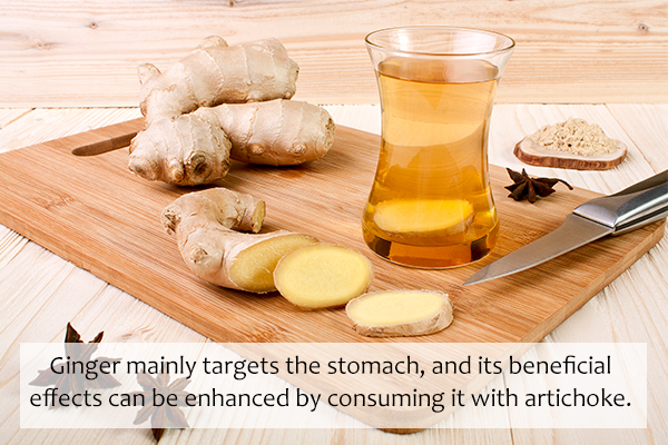 ginger helps relieve bloating