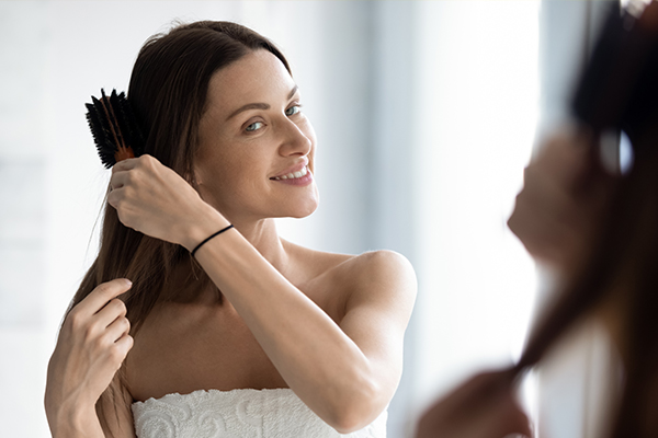 a gentle hair care routine can help reverse hair damage