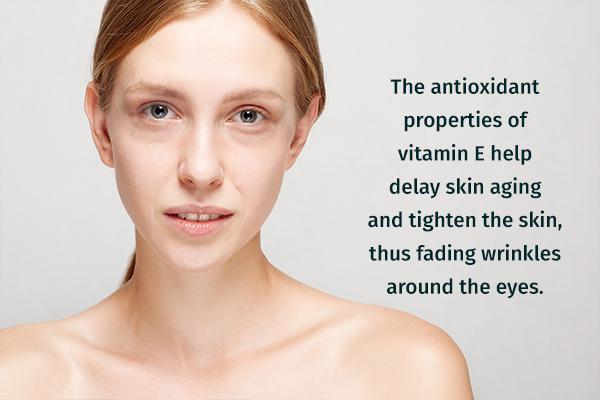 vitamin E can help fade dark circles