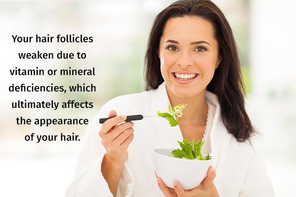 eat an well-balanced diet to maintain healthy hair