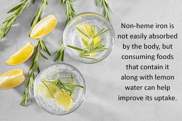 lemon water helps improve iron absorption