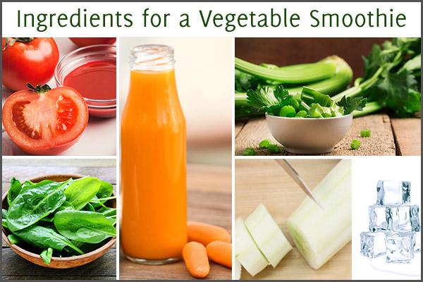 vegetable smoothie ingredients