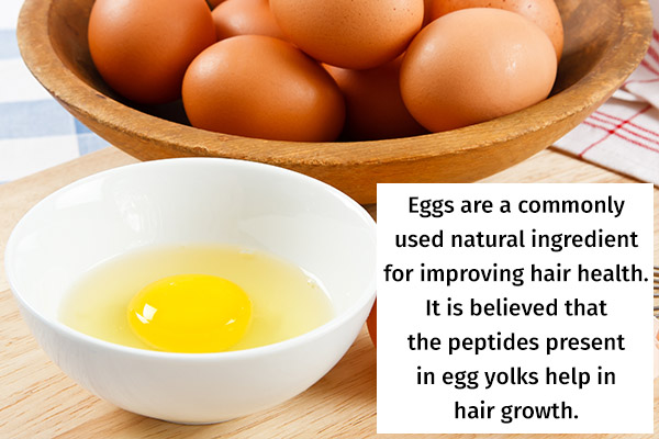 try using an egg hair mask for improving hair health