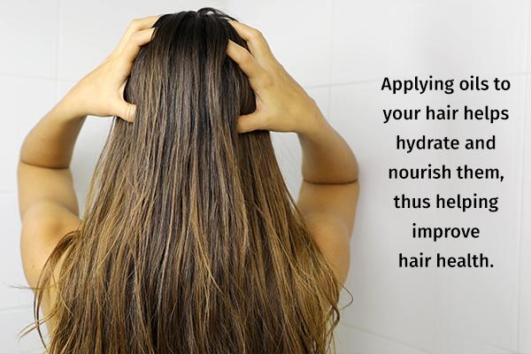 oiling your hair can help improve hair health