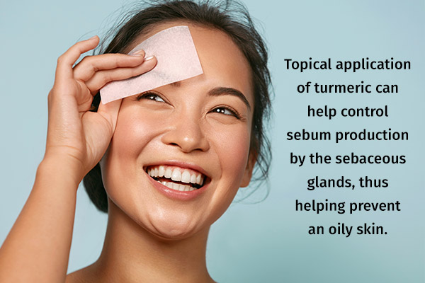 turmeric can help manage oily skin