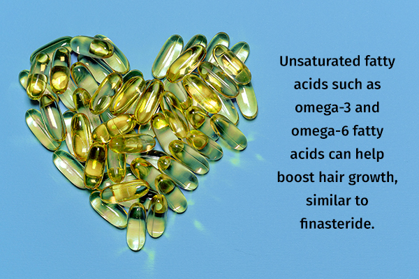 omega-3 and omega-6 fatty acids can help boost hair growth