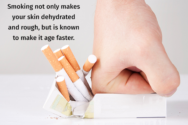 quit smoking to prevent dry skin