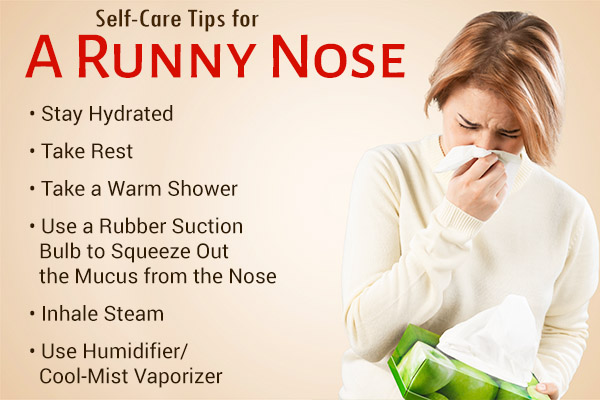 self-care tips for a runny nose