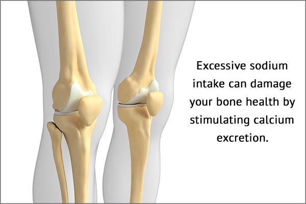 excessive salt intake can be detrimental to bone health
