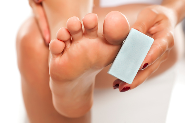 self-care measures to manage foot corns