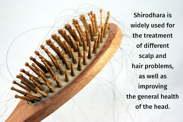 shirodhara treatment for hair loss and scalp problems