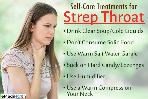 self-care tips for strep throat relief