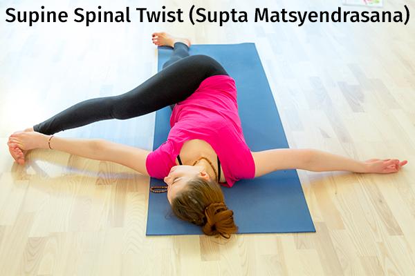 supine spinal twist (supta matsyendrasana) pose