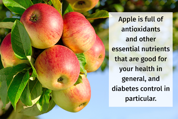 consuming apples is good for diabetes control