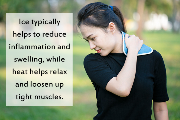 use alternate ice and heat therapy to relieve a stiff neck