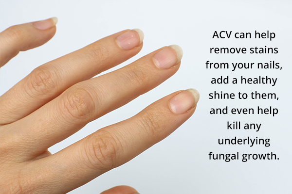 acv can help remove stains from your nails