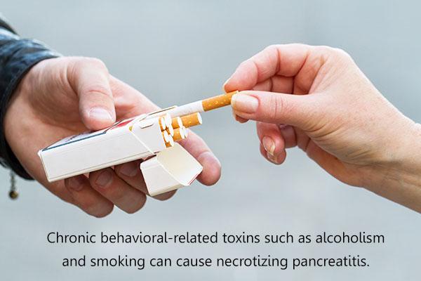 what causes necrotizing pancreatitis?