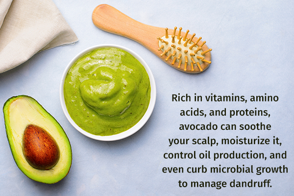 avocado can help fight off scalp infections and dandruff