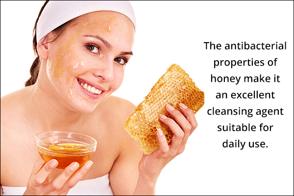 honey works as an excellent cleansing and exfoliating agent