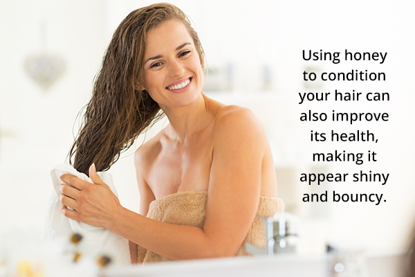 honey works as an excellent hair conditioner