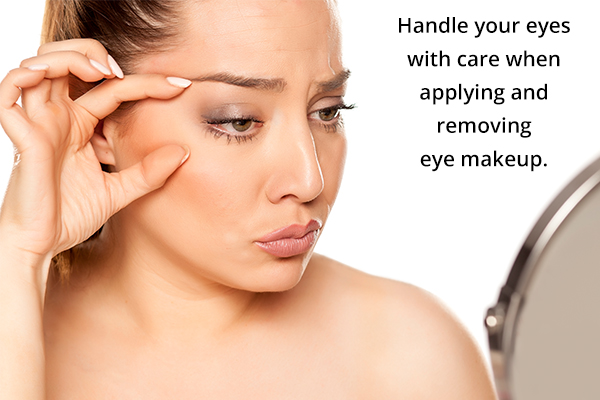 handle your eyes with care when using eye makeup