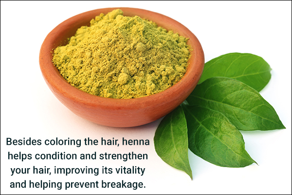 henna can be used to condition, strengthen, and color the hair