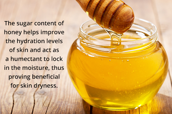 honey can prove beneficial for skin dryness