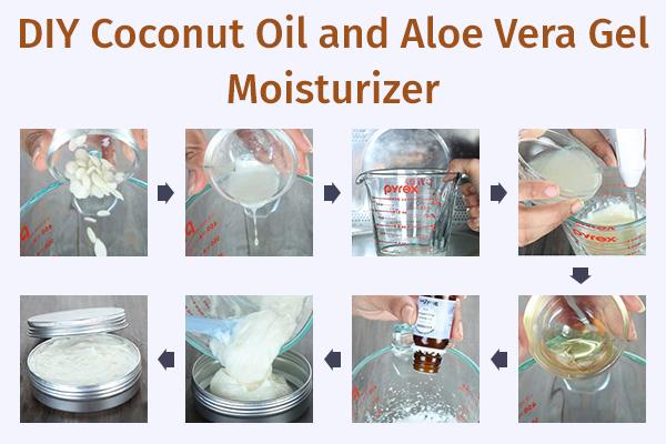 how to prepare coconut oil and aloe vera gel moisturizer