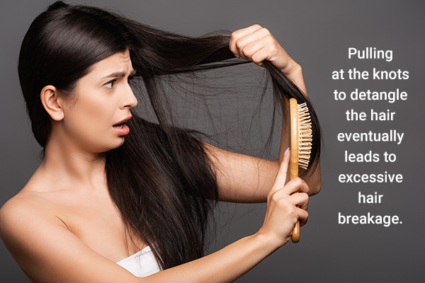 improper brushing habits can lead to hair breakage