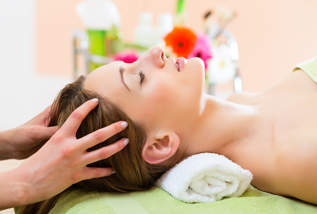 increase blood flow to the scalp